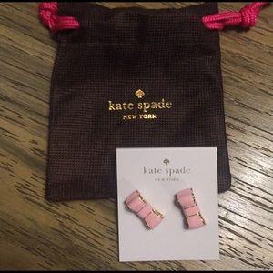 Pink Bow Kate Spade earrings